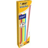 Bic Evolution Stripes Kurşun Kalem 12'Li Kutu