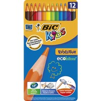 Bic Kids Evolution Kuru Boya 12'Li Metal Kutu