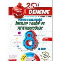 Nartest Yayınevi 8. Sınıf Nar T.C. İnkılap Tarihi Ve Atatürkçülük 25 Deneme Sınavı (14 Sarmal + 10 Genel)