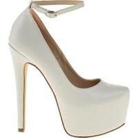 Sothe BA-1030 Kadın Beyaz Platform Topuklu Ayakkabı