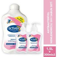 Activex Antibakteriyel Sıvı Sabun Nemlendiricili 1.5 lt & 300 ml & 300 ml Fırsat Paketi