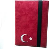 """AksesuarFırsatı Escort Joye Es702 - 7"""" Tablet Dönerli Tablet Kılıfı Kırmızı - Türk Bayrağı"""