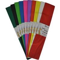 Bafix Krepon Kağıdı 10 Renk Karışık Desenli 10 Lu (1 Paket 10 Adet)