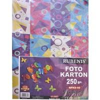 Rubenis Desenli Foto Karton 50X70 Cm 250 Gr 10 Lu (1 Paket 10 Adet)