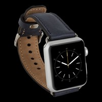 Bouletta Apple Watch Deri Kordon 38/40mm-G3 Mavi