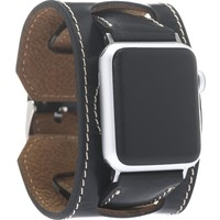 Bouletta Apple Watch Deri Cuff Kordon 38/40mm Siyah