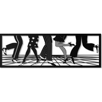 Artepera Let's Dance Metal Tablo - APT005 35 x 100 cm