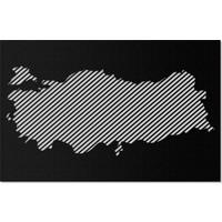 Artepera Türkiye Haritası Metal Tablo - APT177 60 x 100 cm