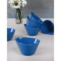 Keramika Mavi Miska Çerezlik/Sosluk 12 Cm 6 Adet