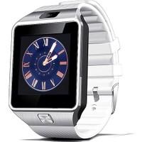 Case 4U Kameralı Akıllı Saat Beyaz Samsung iPhone Sony LG HTC DZ09 (IOS ve Android Uyumlu)