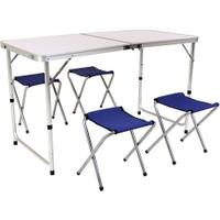 Joystar Katlanır Piknik/Kamp Masası Seti Çanta Tipi (4 Taburesiyle Birlikte)