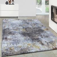 Carpettex Halı Modern Desenli Akrilik Halı Kum Taramalı Tasarım Gri Bej Krem 80X150 Cm