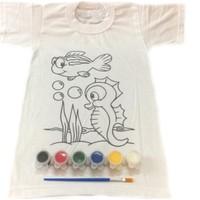 Joy Toys Deniz Canlilari Desenli Tisort Boyama Seti 6 7 Fiyati