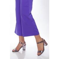 Tarçın Hakiki Deri Klasik Platin Günlük Kadın Topuklu Ayakkabı Trc71-0032