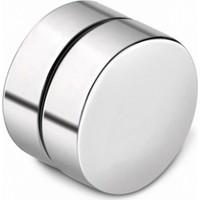 VipBT Gümüş Renkli Mıknatıslı Deliksiz 8mm Titanyum Manyetik Erkek Küpe