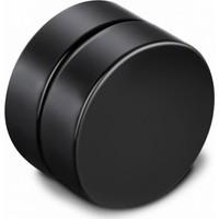 VipBT Siyah Mıknatıslı Deliksiz 8mm Titanyum Manyetik Erkek Küpe