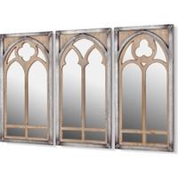 Cemile 3 Kubbelı Ayna Seti 114 x 76 cm