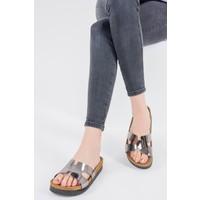 Fox Shoes Platin Kadın Terlik F777771534