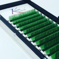 Kaşmir Kirpik Renkli 0.07 Mm C Kıvrım Mix Boy Yeşil Renk