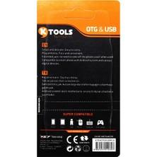 Ktools OTG Kablosu Micro USB Dönüştürücülü Hızlı Veri Transferi