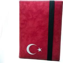 """AksesuarFırsatı Casper Via S10 Tablet 10"""" Dönerli Tablet Kılıfı Kırmızı - Türk Bayrağı"""