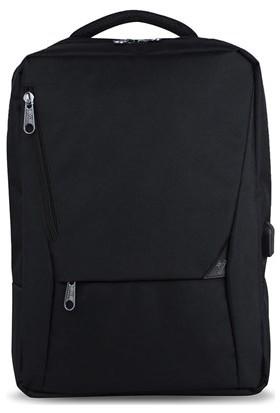 My Valice Smart Bag Active Usb Şarj Girişli Slim Notebook Sırt Çantası Siyah
