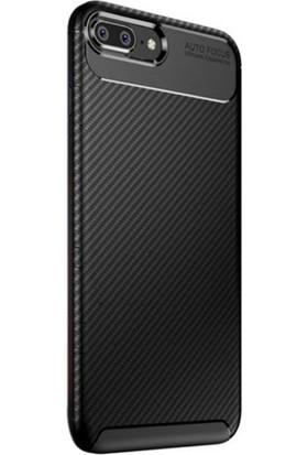 RedClick Apple iPhone 8 Plus Kılıf Negro Karbon Dizayn Silikon + Nano Ekran Koruyucu - Siyah