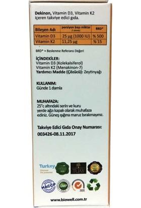 Biowell Dekinon D3 K2 Vitamini Damla 20 ml
