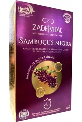 Zade Vital Sambucus Nigra Takviye Edici Gıda 15 Kapsül