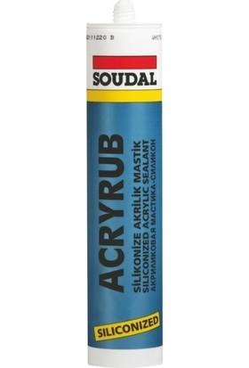 Soudal Acryrub Silikonize Mastik 310 ml Bronz