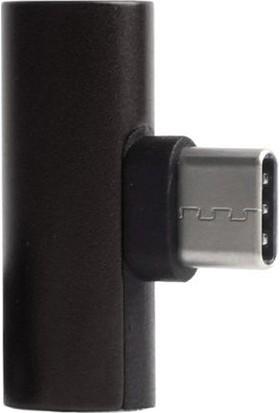 Microcase Type-C 2 in 1 Şarj ve Kulaklık Çoklayıcı Adaptör - Model : SR600