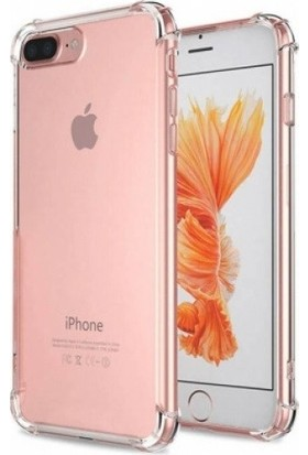 Aksesuarkolic Apple iPhone 8 Plus Ultra İnce Şeffaf Airbag Anti Şok Silikon Kılıf - Şeffaf