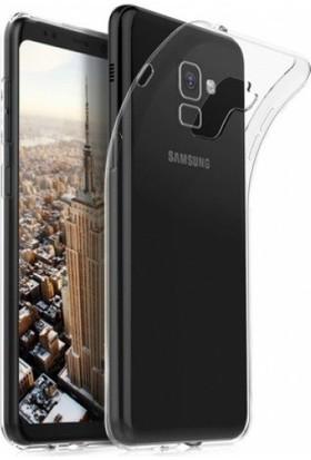 Aksesuarkolic Samsung Galaxy A8 Plus 2018 Ultra İnce Esnek Süper Silikon Kılıf - Şeffaf