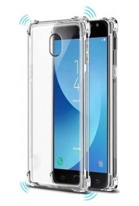 Aksesuarkolic Samsung Galaxy J7 Pro Ultra İnce Şeffaf Airbag Anti Şok Silikon Kılıf - Şeffaf