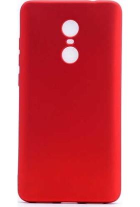 Syronix Xiaomi Redmi Note 4X Mat Oil Silikon Kılıf Kırmızı