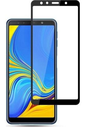 Jopus Samsung Galax A7 2018 5D Nano Tam Kaplayan Ekran Koruyucu + Şeffaf Silikon Kılıf