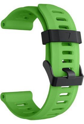 Schulzz Garmin Fenix 3 HR 26 mm Silikon Kayış Kordon - Yeşil