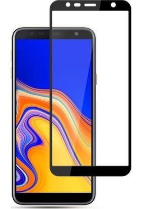 TelefonBorsası Samsung Galaxy J6 Full Kapatan Cam Ekran Koruyucu Siyah