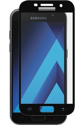 TelefonBorsası Samsung Galaxy A7 2017 Full Kapatan Cam Ekran Koruyucu Siyah