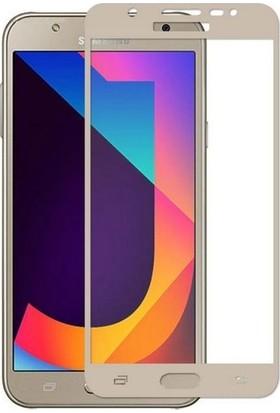TelefonBorsası Samsung Galaxy J7 2015 Full Kapatan Cam Ekran Koruyucu Gold