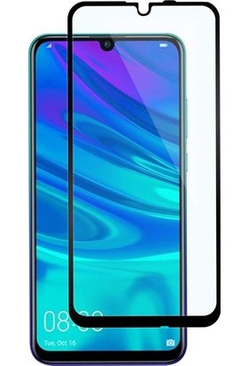 Telbor Huawei P Smart 2019 5D Kavisli Temperli Cam Ekran Koruyucu Film - Siyah