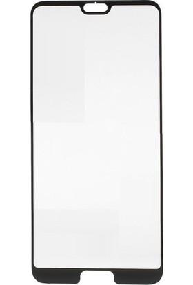Telbor Huawei P20 Pro 5D Kavisli Temperli Cam Ekran Koruyucu Film - Siyah