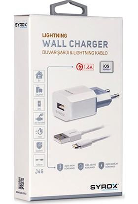 Syrox iPhone Lightning 1.6 mAh Hızlı Şarj Cihazı SYX-J46