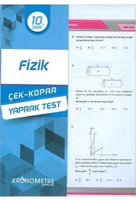 Kronometre 10. Sınıf Fizik Yaprak Test