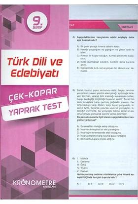 Kronometre 9. Sınıf Türk Dili Ve Edebiyatı Yaprak Test