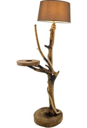 Wood Book Sehpalı Doğal Ağaç Lambader