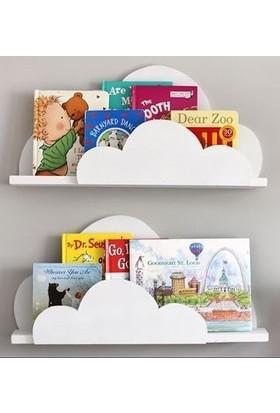 Ceebebek Montessori Bebek Çocuk Odası Ahşap Jut Halat İpli Duvar Rafı Kitaplık