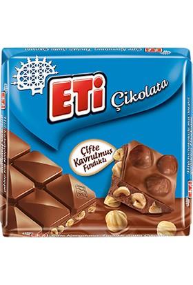 Eti Çifte Kavrulmuş Fındıklı Sütlü Çikolata 70 gr 6' lı