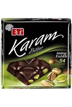 Eti Karam %54 Kakaolu Antep Fıstıklı Bitter Çikolata 70 gr 6' lı
