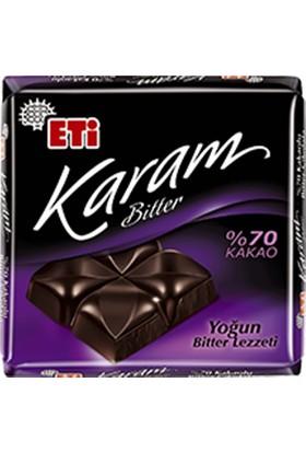 Eti Karam %70 Kakaolu Bitter Çikolata 70 gr 6' lı